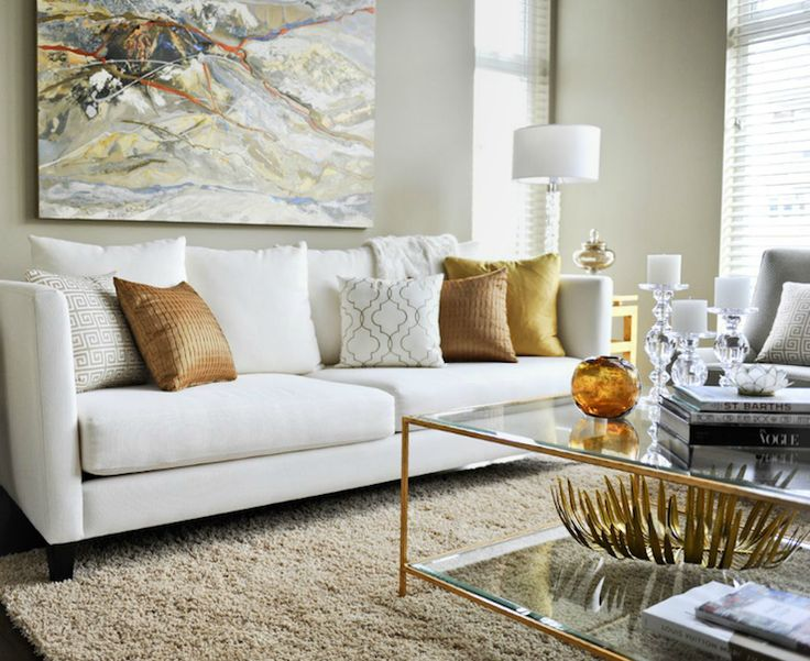 Neutral living room with white and leather furniture living room - Salon W Odcieniach Be U Inspiracje Madziof Pl