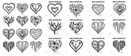 Printable Coloring Pages Valentines Day Cards