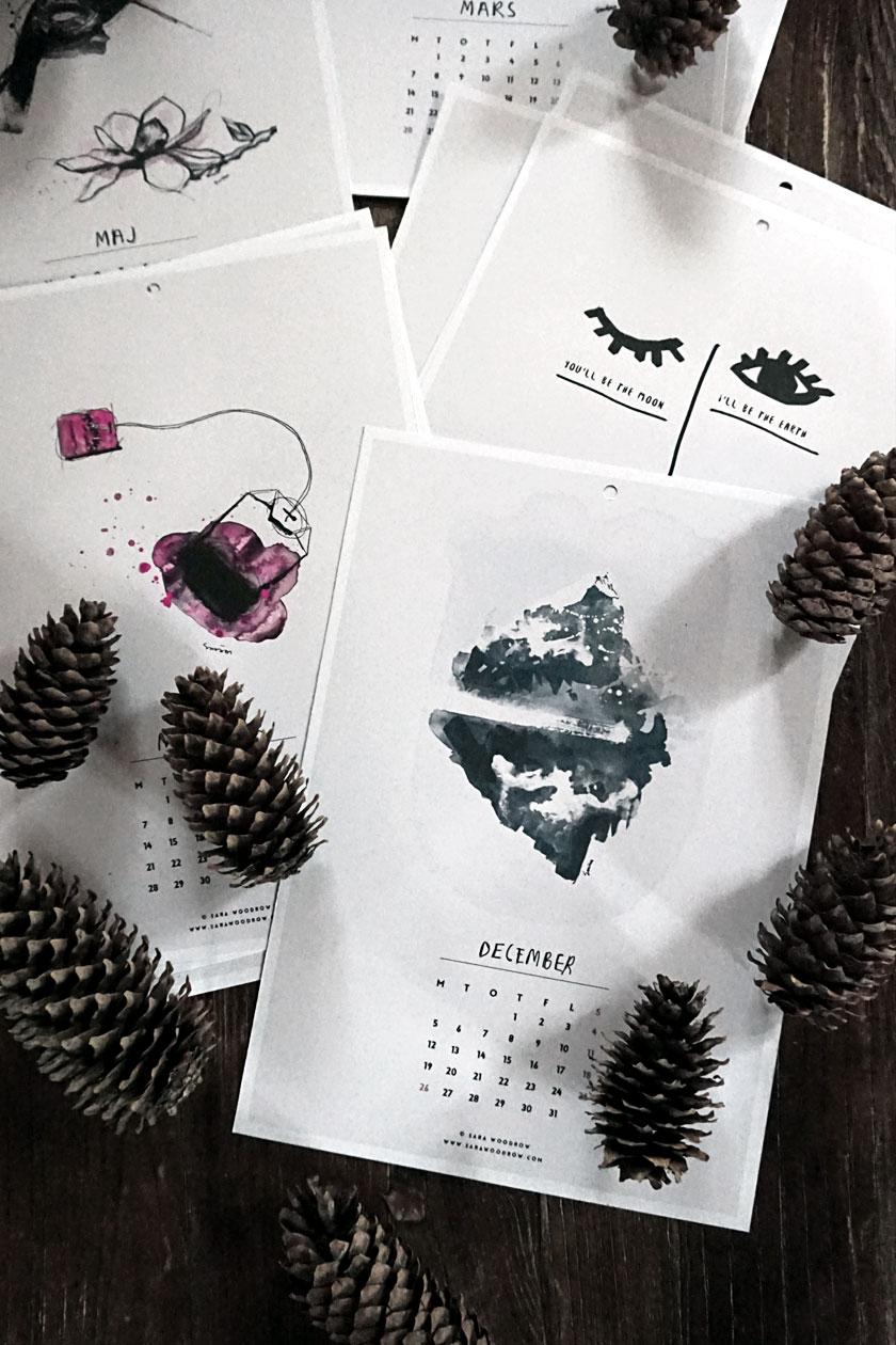 Darmowe kalendarze na 2016 rok do pobrania i wydrukowania akwarele