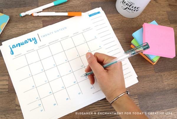 Darmowe kalendarze na 2016 rok do pobrania i wydrukowania minimalistyczne