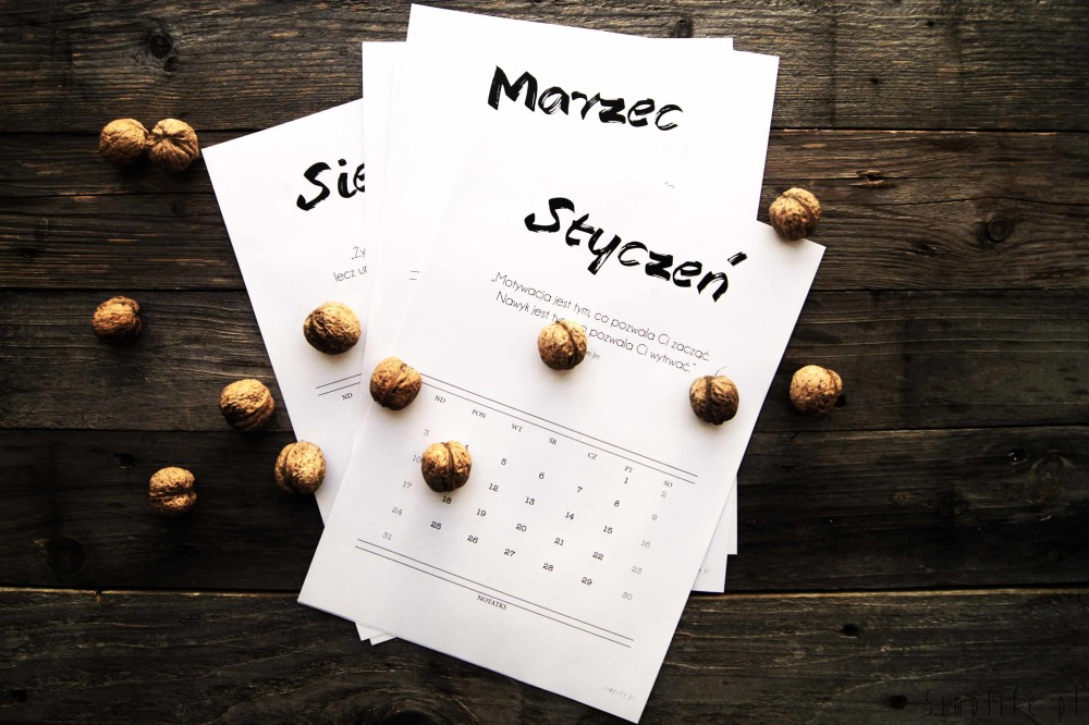 Darmowe kalendarze na 2016 rok do pobrania i wydrukowania polskie
