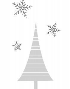 grafika świąteczna do wydrukowania - choinka