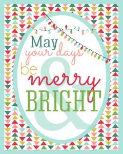 grafika świąteczna do wydrukowania - merry bright