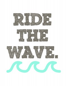 letnie grafiki do wydruku ride the wave