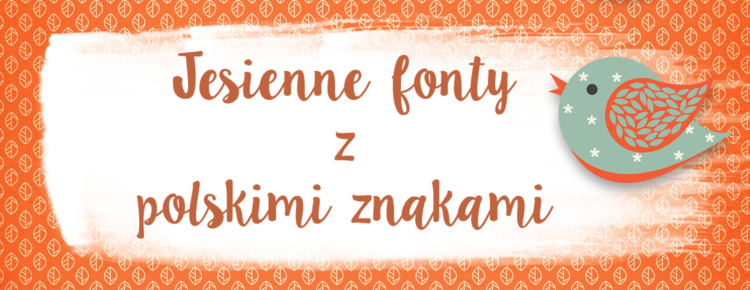 jesienne fonty z polskimi znakami