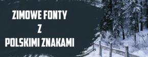 zimowe fonty z polskimi znakami