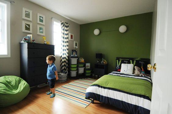Pok j dla ch opca w mocnych kolorach inspiracje for Blue and green boys bedroom ideas