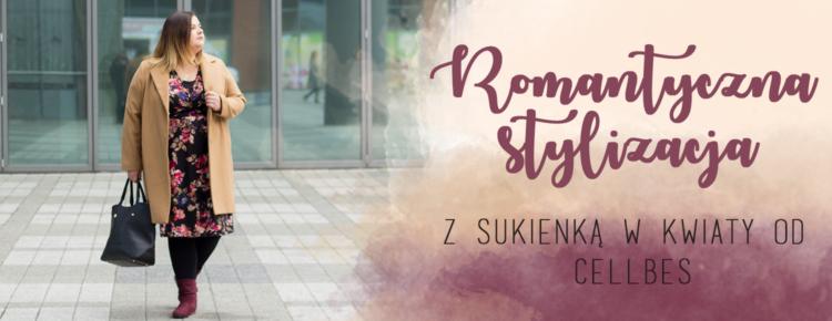 romantyczna stylizacja plus size z sukienka w kwiaty od cellbes