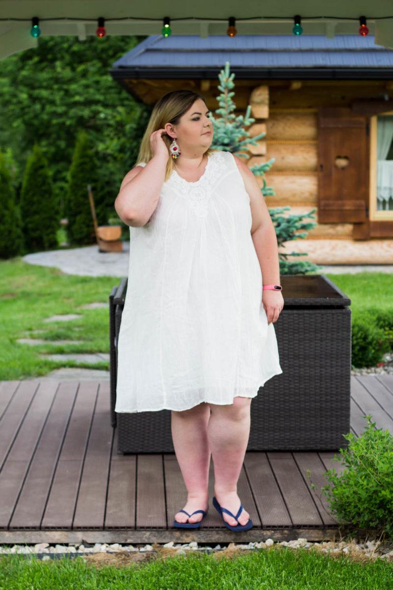 36a251ab7 Idealna sukienka na plażę w rozmiarze plus size. - Madziof .pl